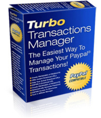 Product picture Turbo Transactions Manager, Manage Your PayPal Transactions