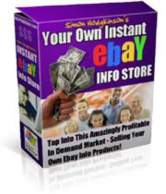 Product picture Your Own Instant Ebay Info Store